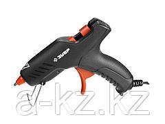 Клеевой пистолет ЗУБР 06850-20-08_z02, термоклеящий, электрический, эргономичная рукоятка, рабочая температура 165 градусов, d = 8 мм, 20 Вт
