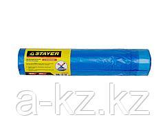 Мешки для мусора STAYER Comfort с завязками, особопрочные, голубые, 60л, 20шт, 39155-60
