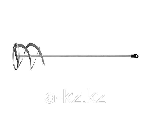 Насадка на миксер строительный STAYER 06011-12-60, MASTER для красок, металлическая, шестигранный хвостовик, оцинкованная, 120 х 600 мм, фото 2