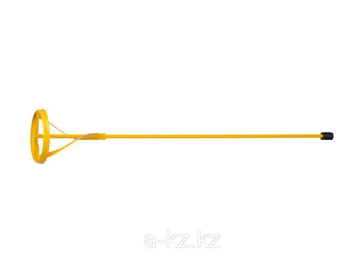Насадка на миксер строительный STAYER 06019-10-60, MASTER для красок, металлическая, шестигранный хвостовик, крашенная, 100 х 600 мм