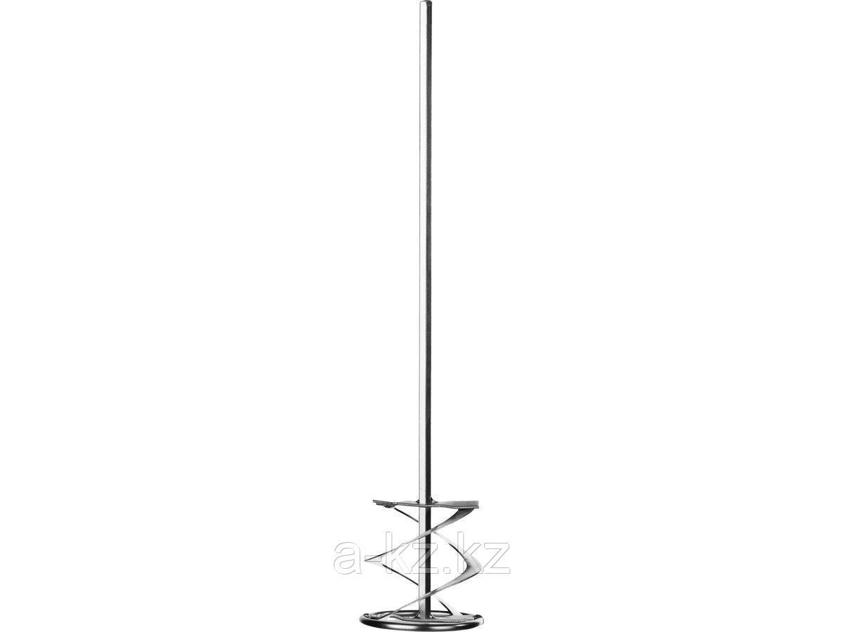 Миксер насадка  ЗУБР для красок, шестигранный хвостовик, оцинкованный,  на подвеске, 80х400мм