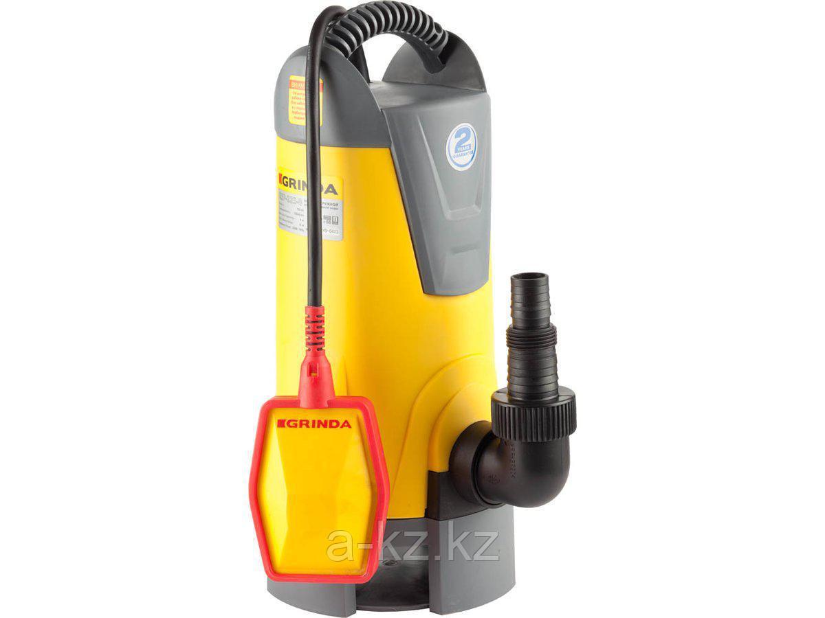 Дренажный насос погружной GRINDA GSP-225-8, для грязной воды , пропускная способность 13500 л/час, высота подачи воды 8 м, 750 Вт