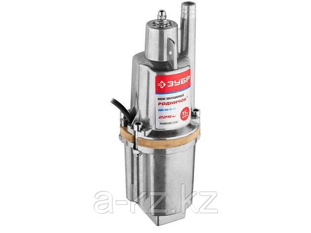 Насос колодезный погружной ЗУБР ЗНВП-300-15_М2, Родничок, вибрационный, для чистой воды, 18 л/мин, напор 60 м, шнур 15 м, 225 Вт, фото 2