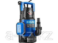 Дренажный насос погружной для грязной воды ЗУБР НПГ-Т3-750, ПРОФЕССИОНАЛ, Т3 (d пропускаемых частиц до 35 мм), 750 Вт, пропускная способность 230
