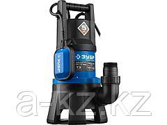 Насос дренажный погружной для грязной воды ЗУБР НПГ-Т3-1300, ПРОФЕССИОНАЛ, 1300 Вт, пропускная способность 420 л/мин, напор 11 м, поплавок