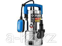 Дренажный насос погружной для грязной воды ЗУБР НПГ-Т3-550-С, ПРОФЕССИОНАЛ, Т3 (d частиц до 35 мм), 550 Вт, пропускная способность 170 л/мин, напор 7