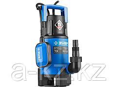 Дренажный насос погружной для грязной воды ЗУБР НПГ-Т3-900, ПРОФЕССИОНАЛ, Т3 (d пропускаемых частиц до 35 мм), 900 Вт, пропускная способность 240