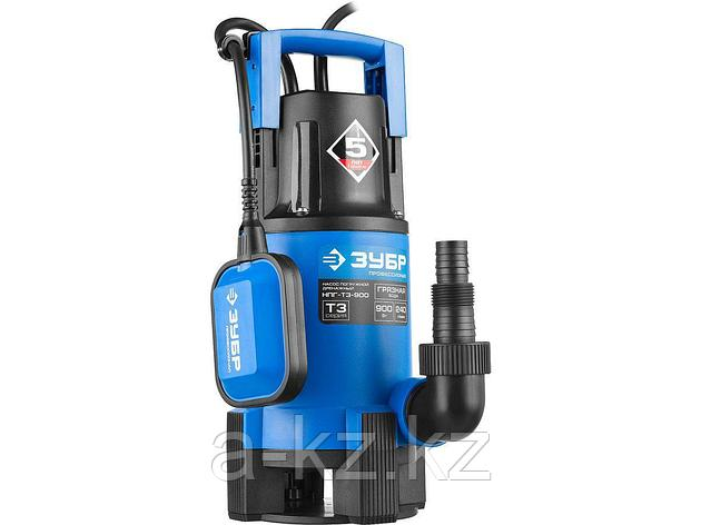Дренажный насос погружной для грязной воды ЗУБР НПГ-Т3-900, ПРОФЕССИОНАЛ, Т3 (d пропускаемых частиц до 35 мм), 900 Вт, пропускная способность 240, фото 2