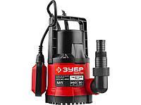 Дренажный насос погружной для чистой воды ЗУБР НПЧ-М1-250, МАСТЕР, М1 (диаметр частиц до 5 мм), 250 Вт, пропускная способность 90 л/мин, напор 6 м