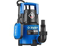Дренажный насос погружной для чистой воды ЗУБР НПЧ-Т3-750, ПРОФЕССИОНАЛ, Т3 (d пропускаемых частиц до 5 мм), 750 Вт, пропускная способность 210 л/мин,