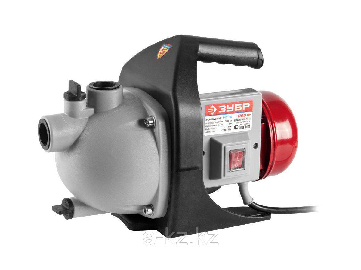 Насос поверхностный ЗУБР ЗНС-1100, 60 л/мин, напор 44 м, 1100 Вт