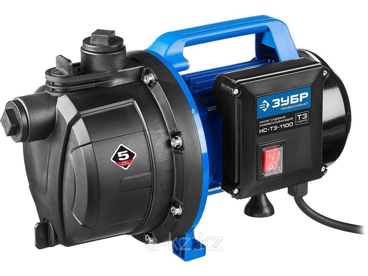 Насос поверхностный ЗУБР НС-T3-1100, ПРОФЕССИОНАЛ, Т3, садовый, самовсасывающий, 1100 Вт, пропускная способность 80 л/мин, напор 45 м