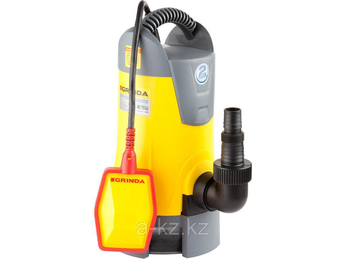 Дренажный насос погружной GRINDA GSP-150-6, для грязной воды , пропускная способность 8000 л/час, высота подачи воды 6 м, 400 Вт