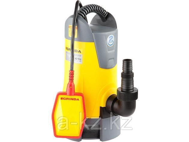 Дренажный насос погружной GRINDA GSP-150-6, для грязной воды , пропускная способность 8000 л/час, высота подачи воды 6 м, 400 Вт, фото 2