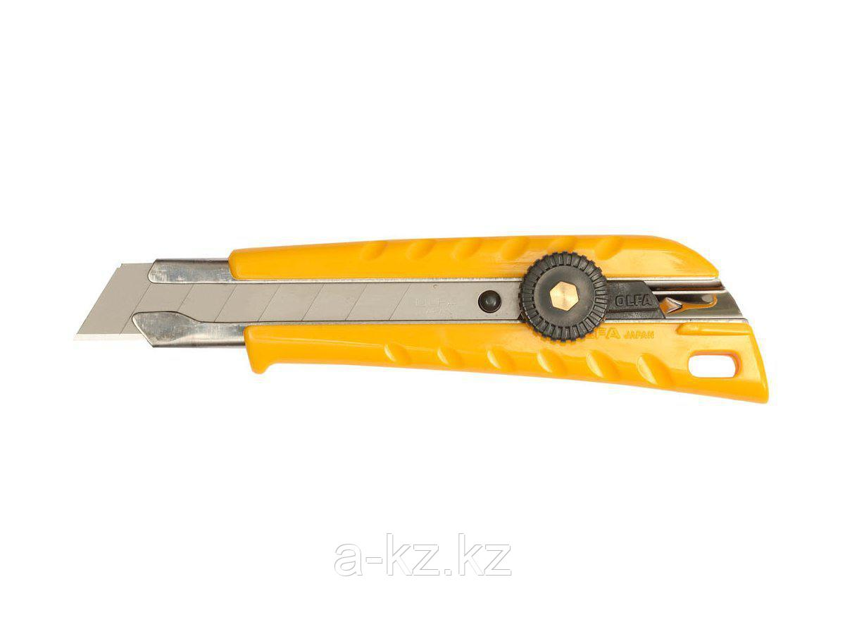 Нож канцелярский OLFA OL-L-1, с выдвижным лезвием эргономичный, 18 мм