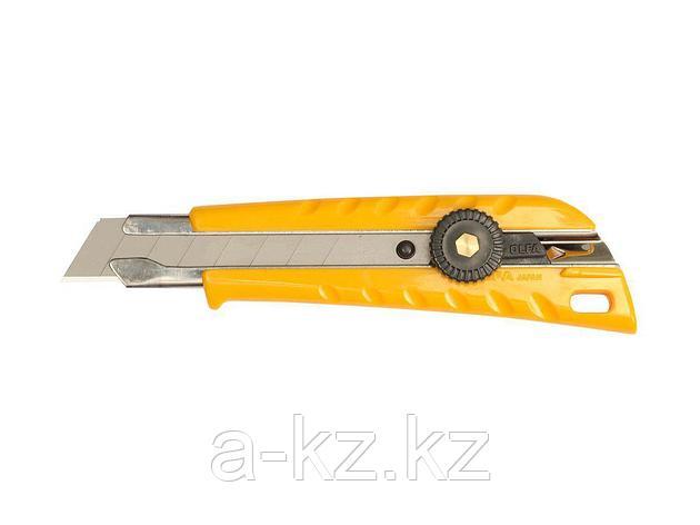 Нож канцелярский OLFA OL-L-1, с выдвижным лезвием эргономичный, 18 мм, фото 2