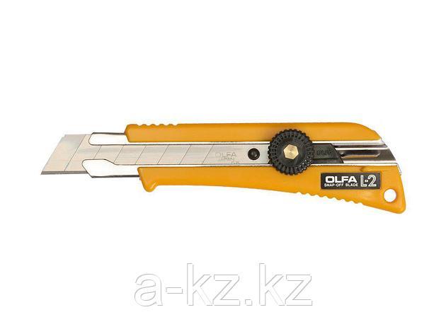 Нож канцелярский OLFA OL-L-2, с выдвижным лезвием эргономичный с резиновыми накладками, 18 мм, фото 2