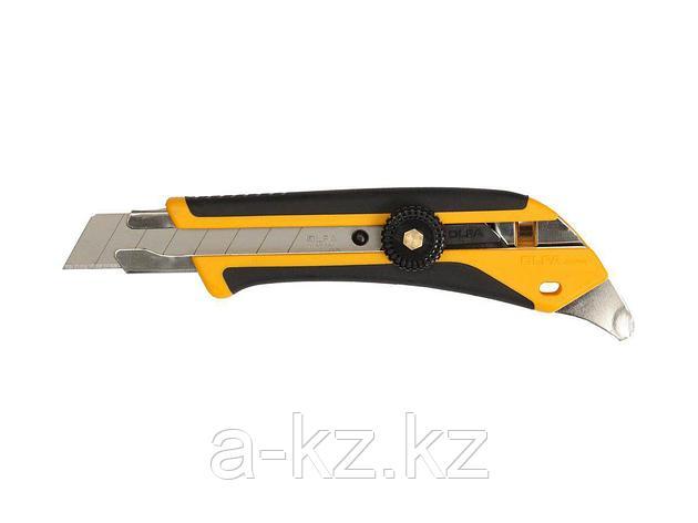 Нож канцелярский OLFA OL-L-5, двухкомпонентный корпус, трещоточный фиксатор, 18 мм, фото 2