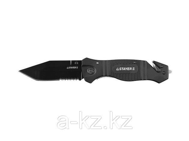 Нож STAYER PROFI складной, металлическая рукоятка, стеколобой, дополнительный резак,лезвие 85мм, 47622, фото 2