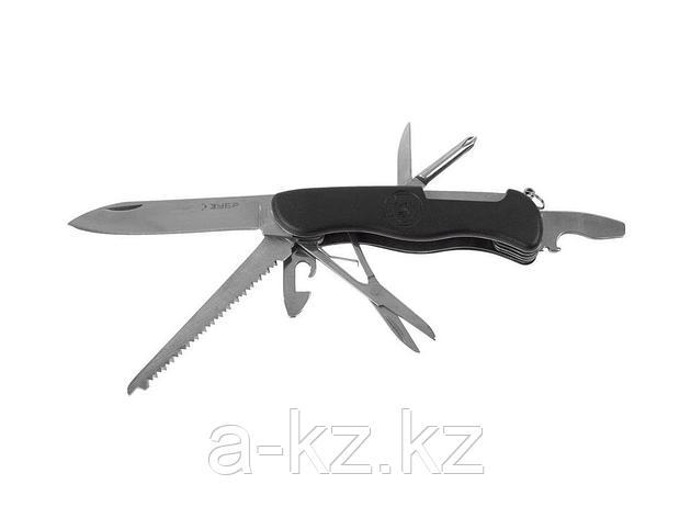 Нож мультитул ЗУБР ЭКСПЕРТ складной многофункциональный, 8 в 1, пластиковая рукоятка, 47791, фото 2