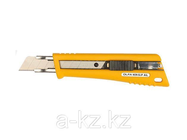 Нож канцелярский OLFA OL-NL-AL, с выдвижным лезвием, со специальным покрытием, автофиксатор, 18 мм, фото 2