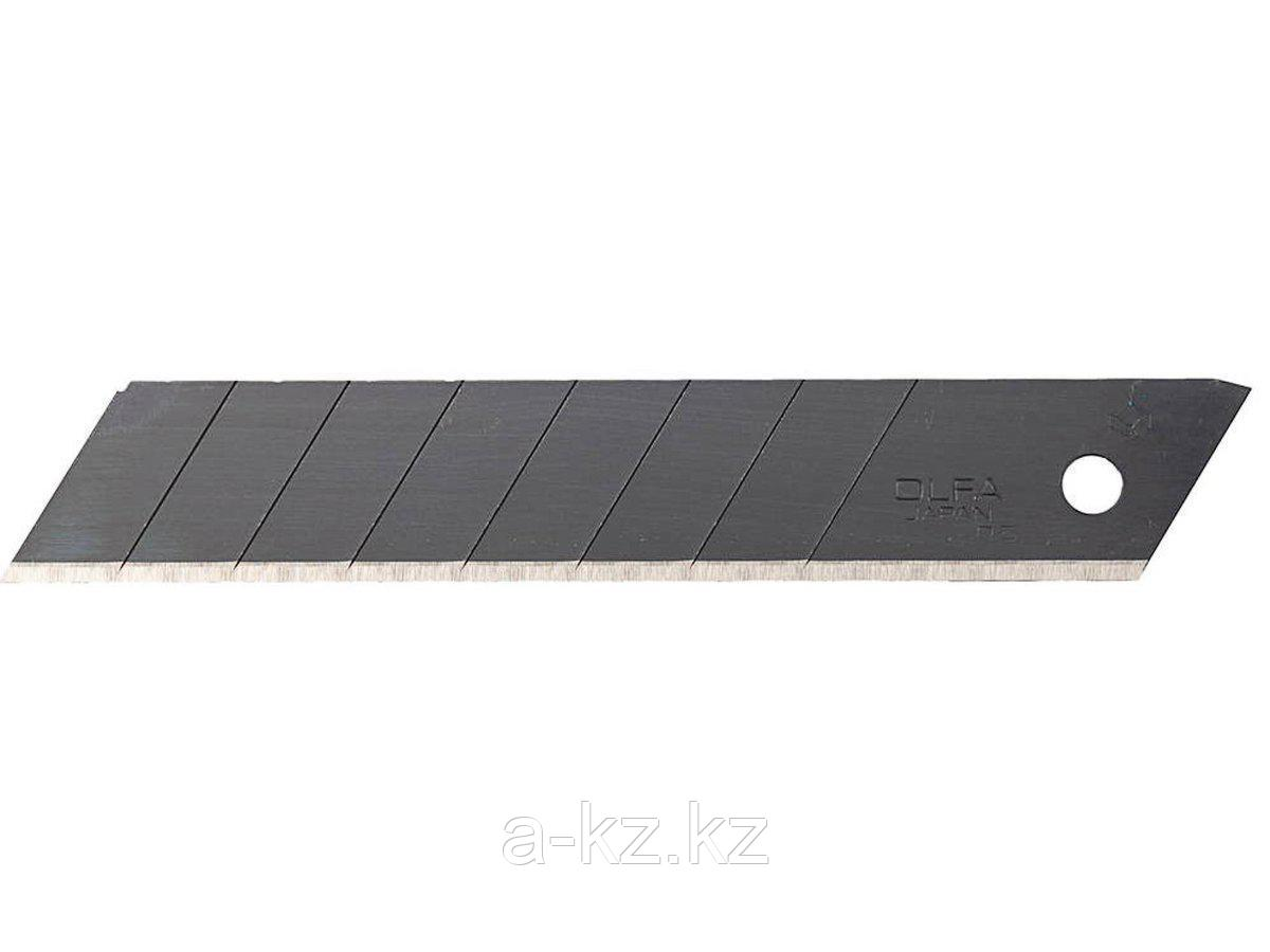 Сменное лезвие сегментированное OLFA OL-LBB-50B, BLACK MAX, сегментированное, 8 сегментов, 18 х 100 х 0,5 мм, 50 шт.
