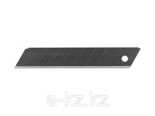 Сменное лезвие сегментированное ЗУБР 09715-18-10, ЭКСПЕРТ, ВОРОНЕНЫЕ, улучшенная инструмент сталь У12А, 8 сегментов, в боксе, 18 мм, 10 шт., фото 2