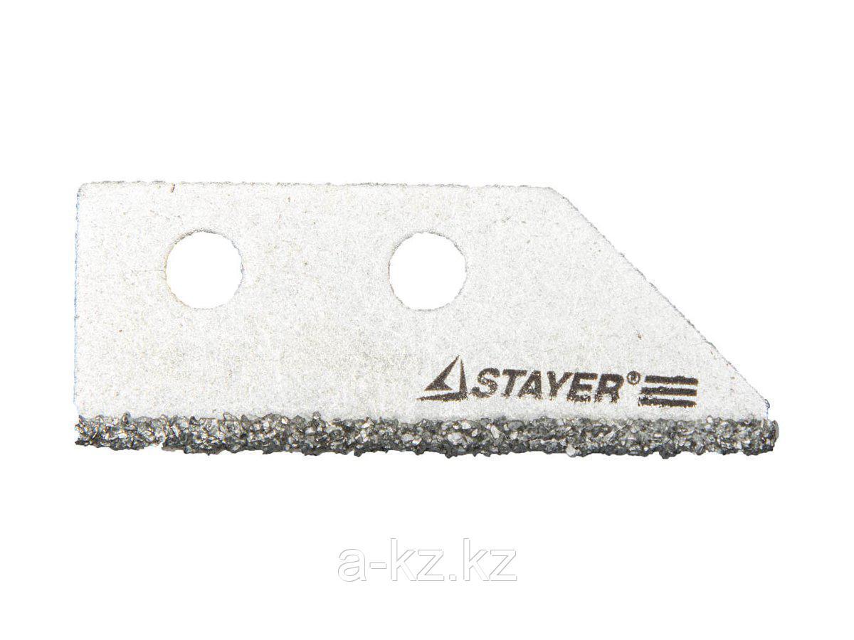 Лезвие STAYER PROFI сменное с карбидным напылением для скребка 33415, 2шт., 33415-S2