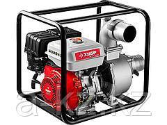 Мотопомпа бензиновая ЗУБР ЗБМП-1600, 4-х тактная, ручной пуск, высота подачи 28м, 1600л/мин