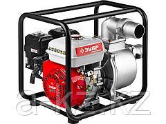 Мотопомпа бензиновая ЗУБР ЗБМП-1000, 4-х тактная, ручной пуск, высота подачи 30м, 1000л/мин