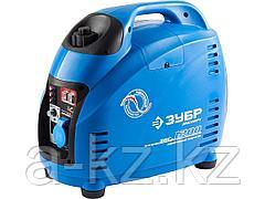 Бензиновый электрогенератор ЗУБР ЗИГ-1200, генератор инверторный, однофазный (220В), 4-тактный, низкий уровень шума, с-ма Эл-интелект, 1200/1000Вт