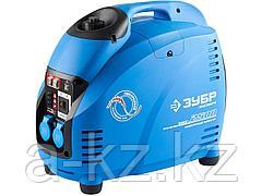 Бензиновый электрогенератор ЗУБР ЗИГ-2500, генератор инверторный, однофазный (220В), 4-тактный, низкий уровень шума, с-ма Эл-интелект, 2500/2200Вт