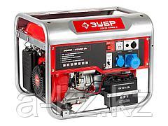 Бензиновый электрогенератор ЗУБР ЗЭСБ-4500-Э, двигатель 4-х тактный, ручной и электрический пуск, 4500/4000Вт, 220/12В
