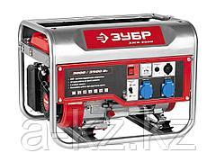 Бензиновый электрогенератор ЗУБР ЗЭСБ-3500, двигатель 4-х тактный, ручной пуск, 220/12В, 3000/3500Вт