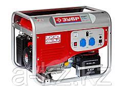 Бензиновый электрогенератор ЗУБР ЗЭСБ-4000-Э, двигатель 4-х тактный, ручной и электрический пуск, 220/12В, 4000Вт