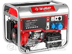 Бензиновый электрогенератор ЗУБР ЗЭСБ-4500-ЭА, двигатель 4-х тактный, ручной и электрический пуск, автоматический пуск, 4500/4000 Вт, 220/12