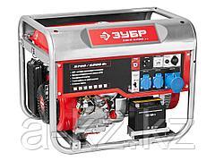 Бензиновый электрогенератор ЗУБР ЗЭСБ-6200-ЭА, двигатель 4-х тактный, ручной и электрический пуск, автоматический пуск, 6200/5700Вт, 220/12В