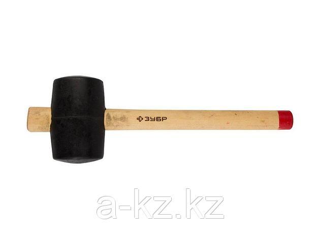 Киянка резиновая ЗУБР 2050-75_z01, МАСТЕР, черная, с деревянной ручкой, 0,68 кг, 75 мм, фото 2
