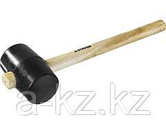 Киянка резиновая STAYER 20505-75, STANDARD черная с деревянной ручкой, 680 г