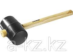 Киянка резиновая STAYER 20505-90, STANDARD черная с деревянной ручкой, 900 г