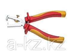 Стриппер для снятия изоляции диэлектрический ЗУБР 22145-9-16, ЭКСПЕРТ ЭЛЕКТРОМОНТАЖНИК, двухкомпонентная рукоятка, до ~1000 В, 180 мм