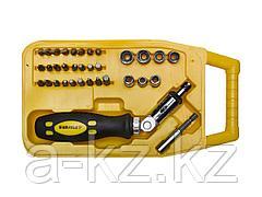 Набор инструментов торцевые головки и биты STAYER 25083-H34_z02, MASTER ТECHNO, Cr-V, двухкомпонентная рукоятка, намагниченные, 34 предмета, в боксе