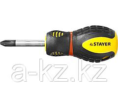 Отвертка крестовая STAYER PROFI PROTech, двухкомп рукоятка, намагниченная, Cr-Mo, PH2x38мм, 25132-2-38_z02
