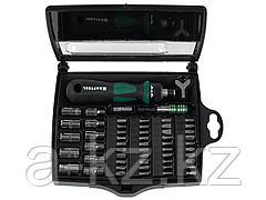 Набор инструментов торцевые головки и биты KRAFTOOL 25554-H55, EXPERT, битодержатель с битами, 55 предметов