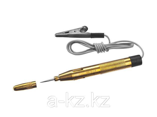 Пробник и тестер напряжения STAYER 2574_z01, MASTER, для автопроводки, латунный, 6 - 24 В, 110 мм, фото 2