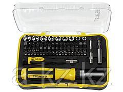 Набор инструментов торцевые головки и биты STAYER 25310-H65, MASTER с эргономичной ручкой, с насадками, в пластмассовом боксе, 65 предметов