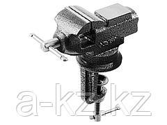 Тиски слесарные ЗУБР 32485, МАСТЕР, мини, поворотные с наковальней, для точных работ, 60 мм