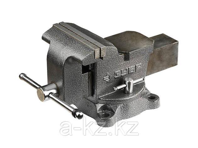 Тиски поворотные слесарные ЗУБР 3258, МАСТЕР, 150 мм, 16 кг, фото 2