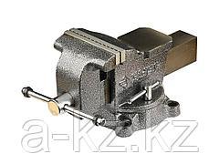 Тиски поворотные слесарные ЗУБР 3258-125, МАСТЕР, 125 мм