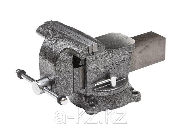 Тиски поворотные слесарные ЗУБР 3258-200, МАСТЕР, 200 мм, фото 2